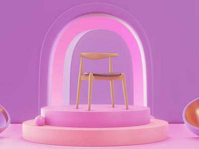 CH20 | Elbow Chair textures pbr interior architecture archviz  interior b3d interior design archviz interior blender3d design
