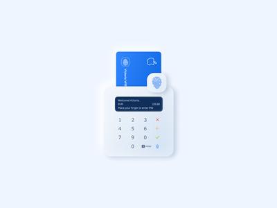 Card reader concept with a digitized fingerprint sensor