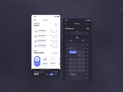 iOS Logistics - Order Dashboard instagram post designer mobile app design mobile app ios logistic dailyui darkui dark components webdesign balasinski figma