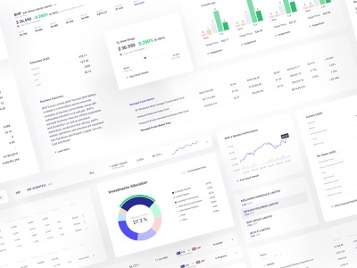 Investment Manager - Web App Components saas app app components dribbble best shot web components financial services advisors financial advisor trading platform exchange trading app investment app investment components application clean balasinski figma