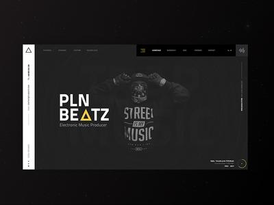 PLN BEATZ - Conceprt for electronic and TRAP music producer producer music electronic black clean dark beatz pln trap