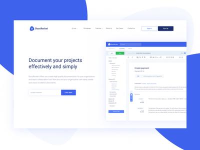 DocuRocket - Documentation for organizations application clean landingpage git