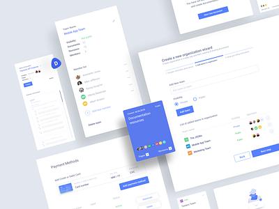HQ documentation for modern organizations - components documents team payments components saas app blue application clean figma