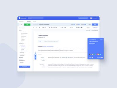 HQ documentation for modern organizations - Editor documentation editor webapp design webapp design balasinski clean figma