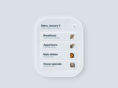 Skeuomorph Apple Watch order food app concept