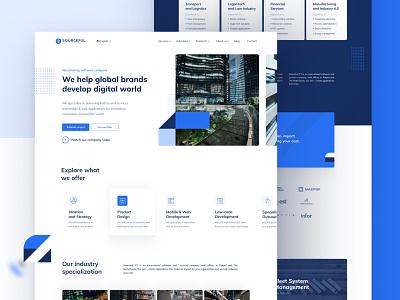 Software development company - Landing page concept homepage design landing page design blue webdesign software house balasinski landingpage clean figma