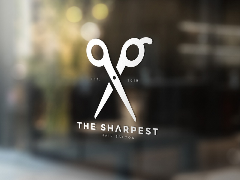 Logo Hair Stylist Template logo design barbershop barber hair haircut hair saloon hairdresser logo
