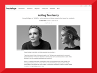 Carrie Mulligan Cover Story