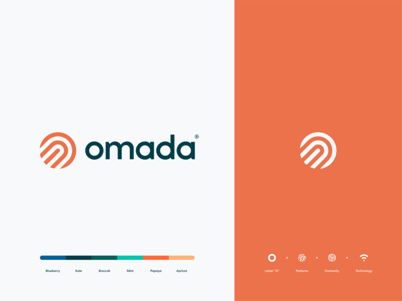 Omada identity logotype mark app healthcare digitalcare humanity tech o human icon branding logo