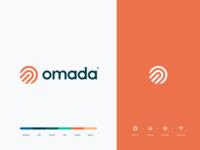 Omada identity logotype mark app healthcare digitalcare humanity tech o human icon branding logo