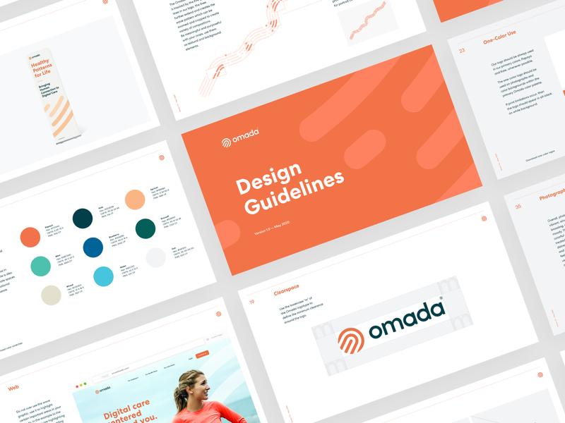 Omada Design Guidelines uxui web print team human design brand identity idenity logo design omada guidelines brandbook branding brand logo