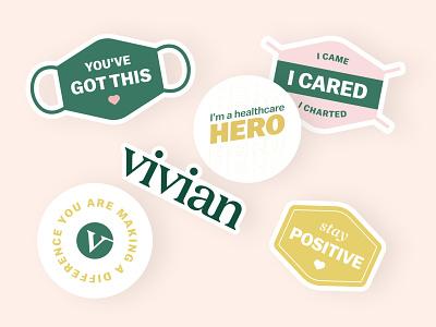 Hero Stickers stickermule print identity logo typography type branding healthcare professionals hero heroes nurse healthcare stickers graphic design