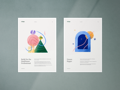 Core Values color shapes geometric typography clean design illustration branding core internal poster values brand
