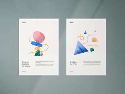 Core Values 5 & 6 identity brand poster internal values core branding illustration design clean typography geometric shapes color