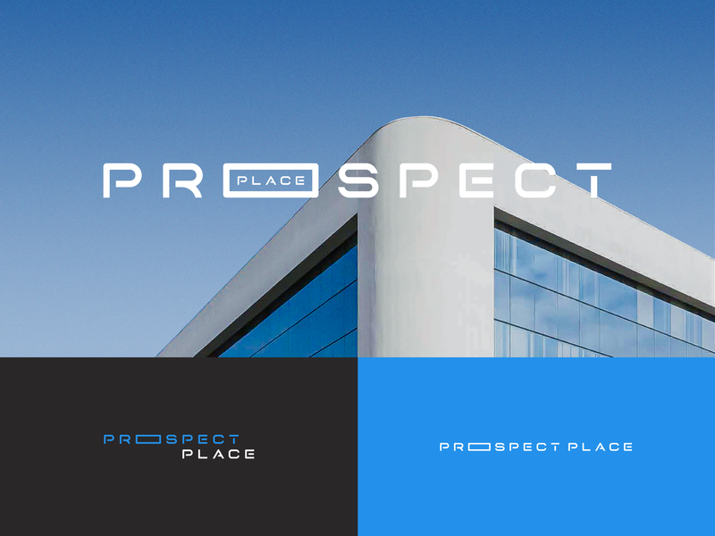 Prospect Place identity branding blue wide extended lockups variations building logo place prospect
