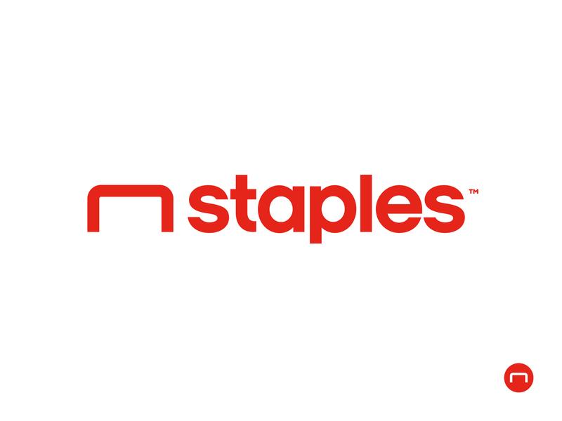 Staples logo — my version store staple red combination fix solution logo staples