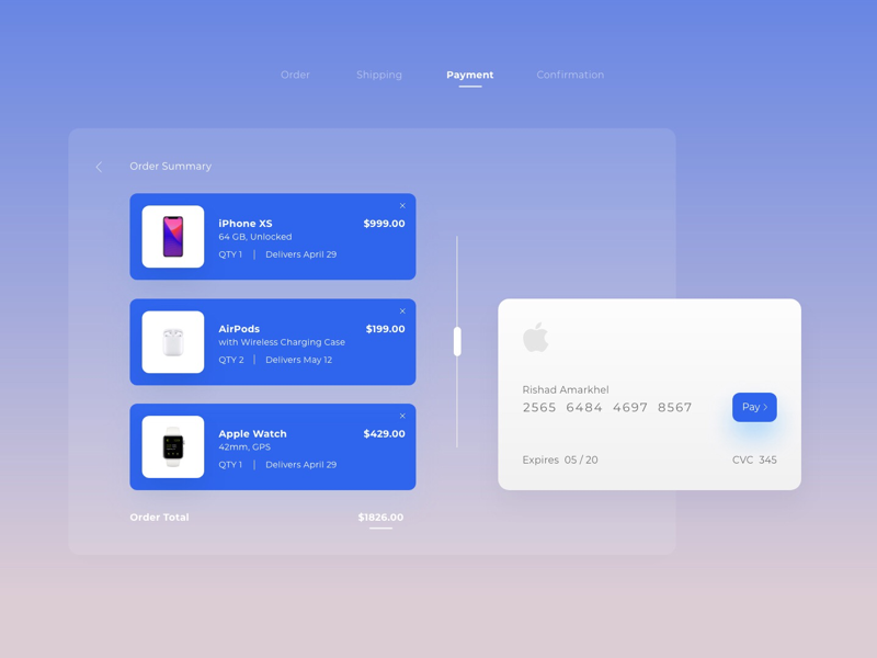 Daily UI #002 clean ui ux payment apple challenge daily ui credit card