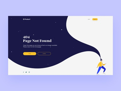 Daily UI #008 — 404 Page