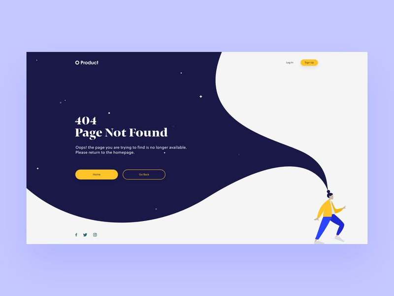 Daily UI #008 — 404 Page product ui web user landing page 404 error 404