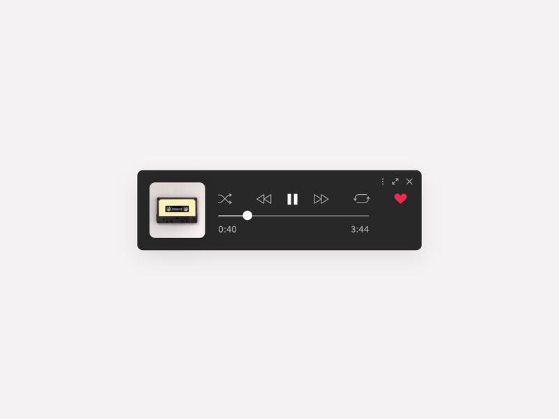 Daily UI #009 — Spotify Mini Concept ui daily ui clean music player mini spotify