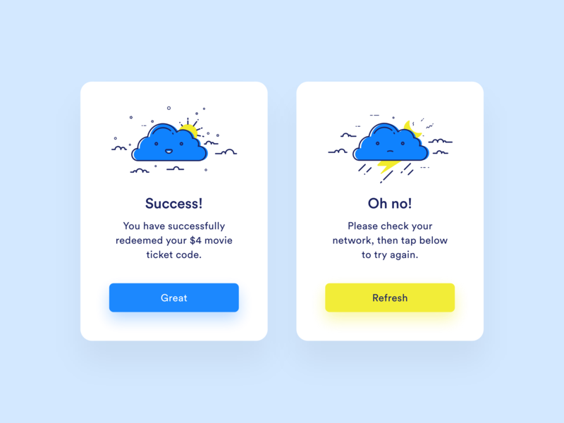 Daily UI #011 — Sign Up ux clean success error cloud signup cta illustration ui daily 100 daily challange