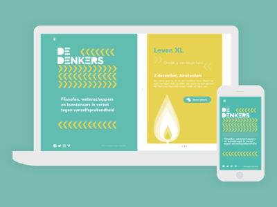 De Denkers desktop design mobile ux ui webdesign
