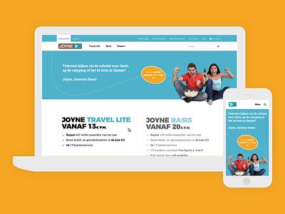 Joyne provider webdesign ux ui mobile desktop design