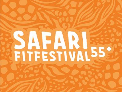 Visual identity festival logo logo fit health seniors festival safari