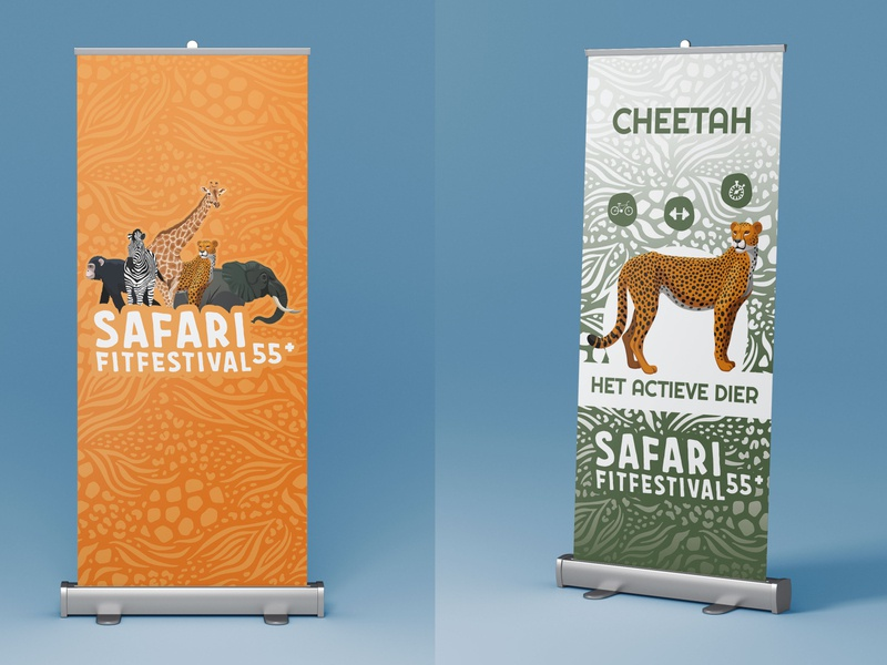 Safari Fitfestival banners health cheetah identity festival safari