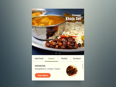 Restaurant App Widgets