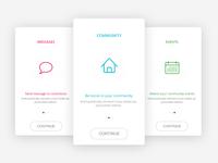 Onboarding for community app