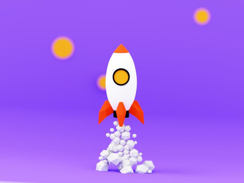 Ready to launch lowpolyart lowpoly modeling 3d modeling rocket 3d blender