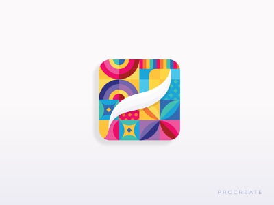Procreate Icon Fun getcreativewithprocreate geometric design icon design app icon design design vector illustration