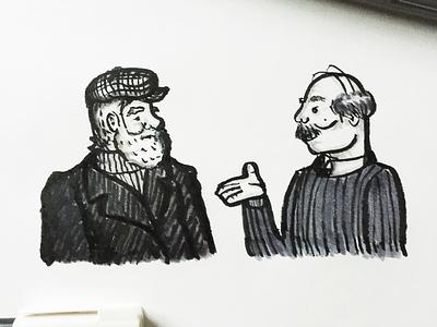 Inktober-Day 11 ink drawing illustration beard men people inktober