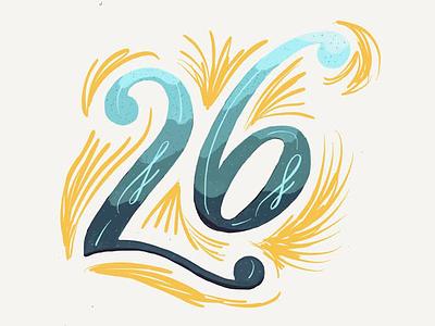Number Fun paper app numbers lettering custom typography handlettering type