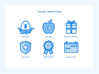 Custom Icons- Unused Concept custom health gift money award shield insurance calendar retirement benefits culture ui web illustration vector icons website