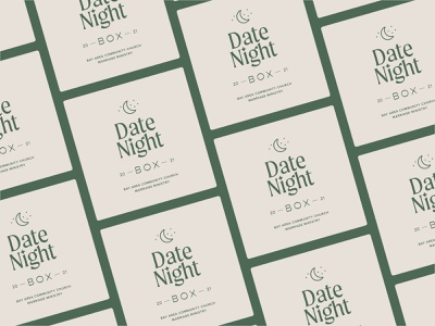 Date Night retro minimal typography vintage branding icon illustration design logo