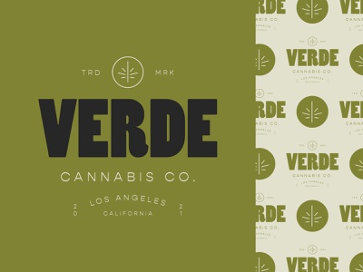 Verde Cannabis Co. logos hemp weed cannabis logo cannabis poster typography type vintage branding icon design logo