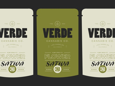 Verde Cannabis Co. | 1 OZ Flower package design branding design weed cannabis design cannabis logo cannabis vintage branding icon illustration design logo