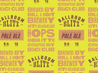 Ballroom Blitz icon design type vintage brewery beer can beer logo branding