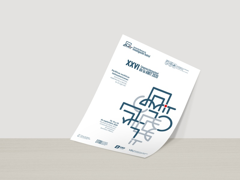 XXVI Congreso AMIT poster vector branding