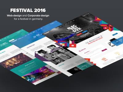Electrisize Website Design #2016 dj mockup festival love ux ui ux ui color design webdesign