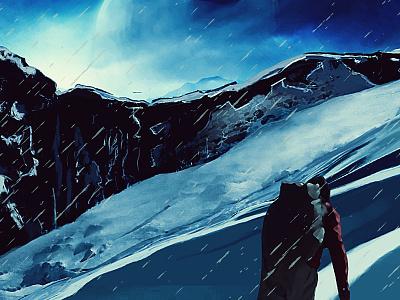 Snow Mountin Painting painting digital art digitalart illustration paint snow mountin