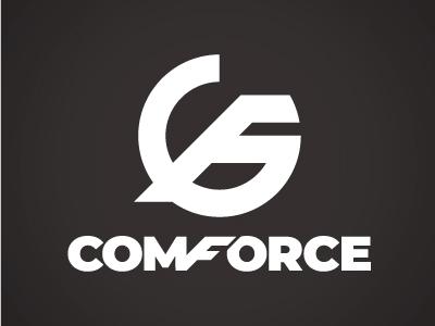 Comforce Logo type minimal flat typography branding design logo