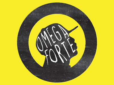 Omega Forte Logo mark symbol icon illustrative identity rap illustration silhouette brand vector illustrator logo