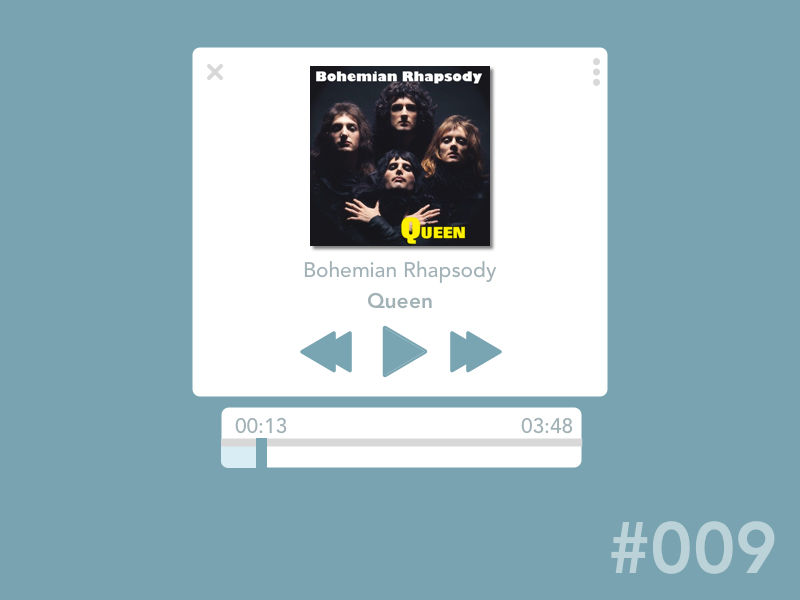 Day 9- Daily UI Challenge queen music music-player 100-days-of-design daily-ui-9 day9 dailyui