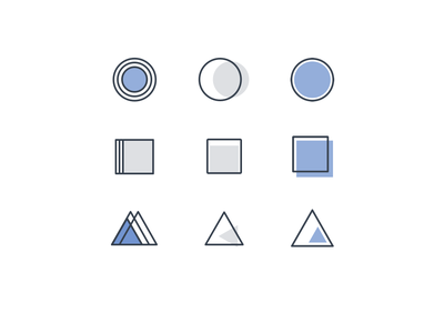 Vault Accounting Icons blue icon set iconography accounting