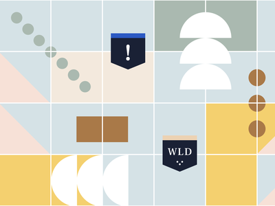 Pattern Concept brand identity branding muted colors banner memphis legal online course pattern