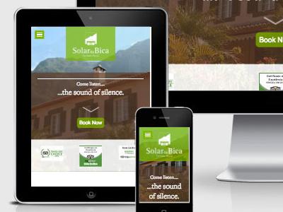 Solar Da Bica Website UI refreshed green tourism responsive rwd ui