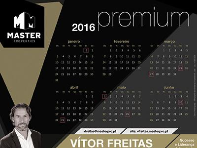 Calendar Design for Master Properties real estate black calendar